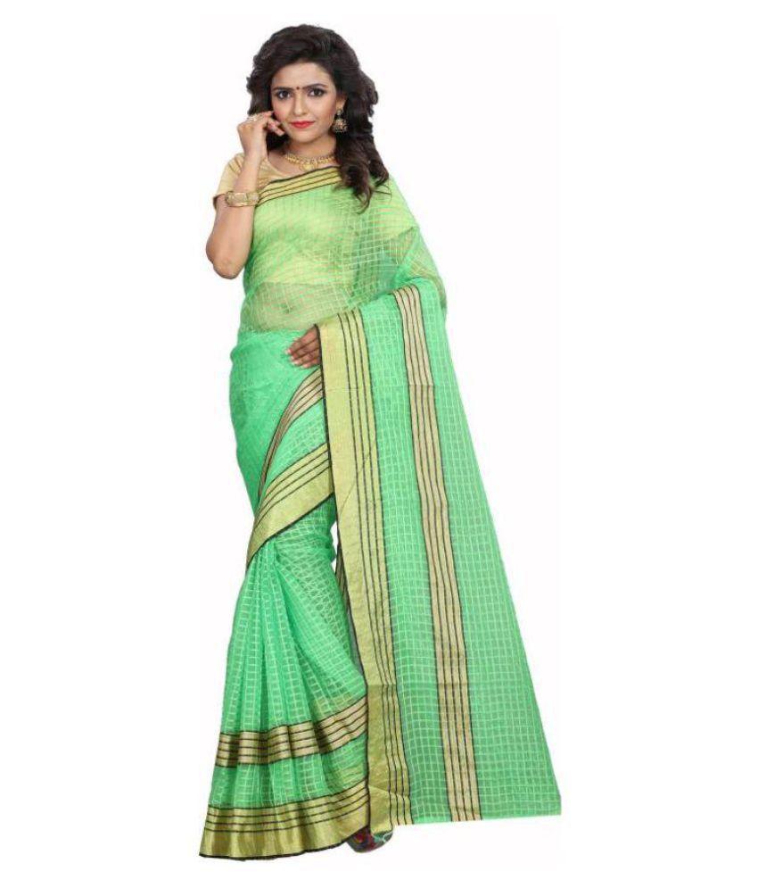 Tithi Kumari Green Georgette Saree