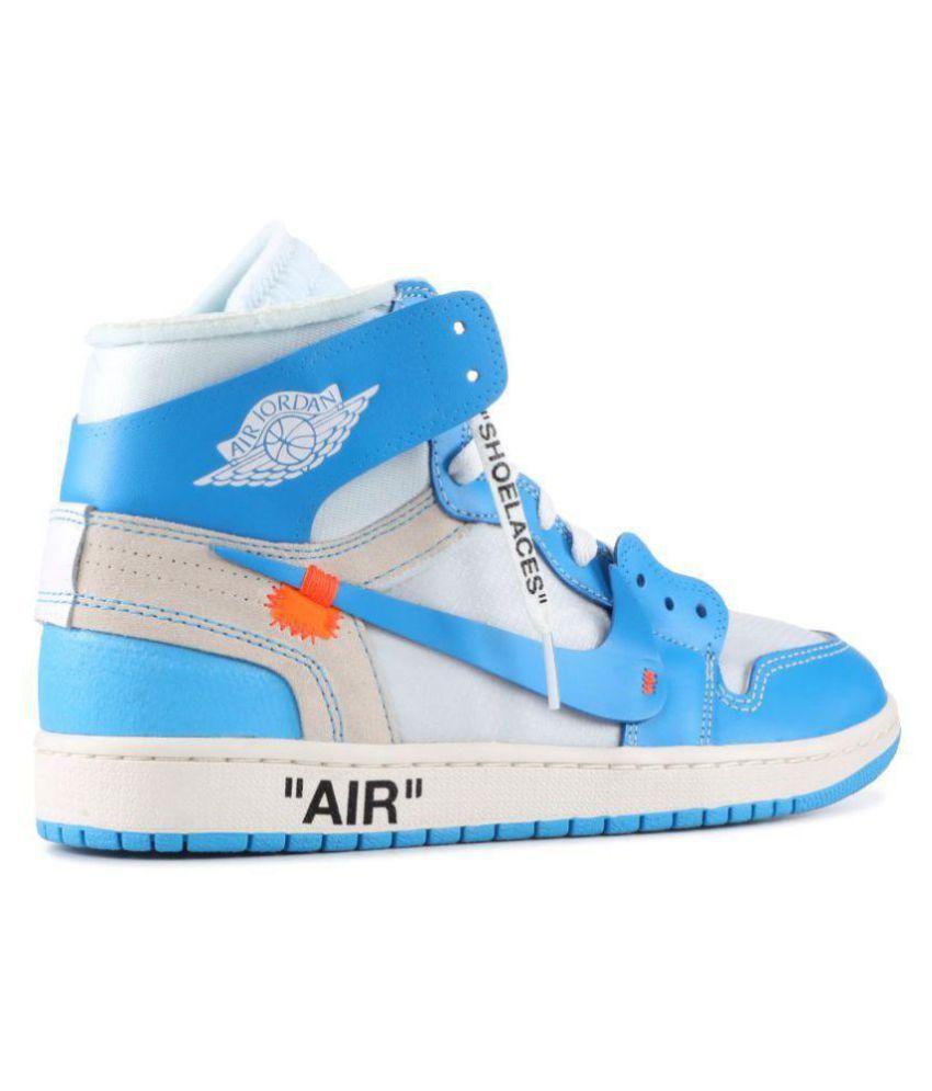purchase cheap 54829 6bdeb Nike NIKE JODAN 1 RETRO OFF-WHITE Blue Basketball Shoes