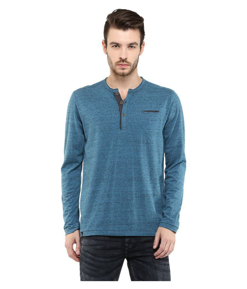 Mufti Blue Full Sleeve T-Shirt