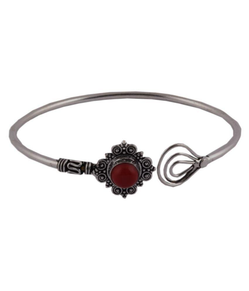 Amaira Women's Non Precious Silver Bracelet - Red