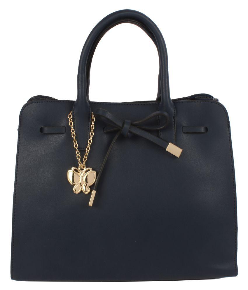 Butterflies Blue Artificial Leather Handbags Accessories