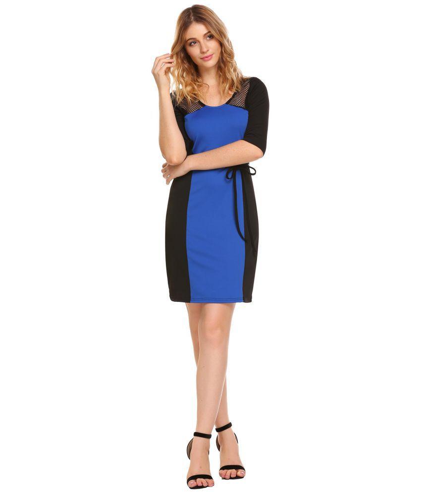 Generic Net blue Bodycon Dress