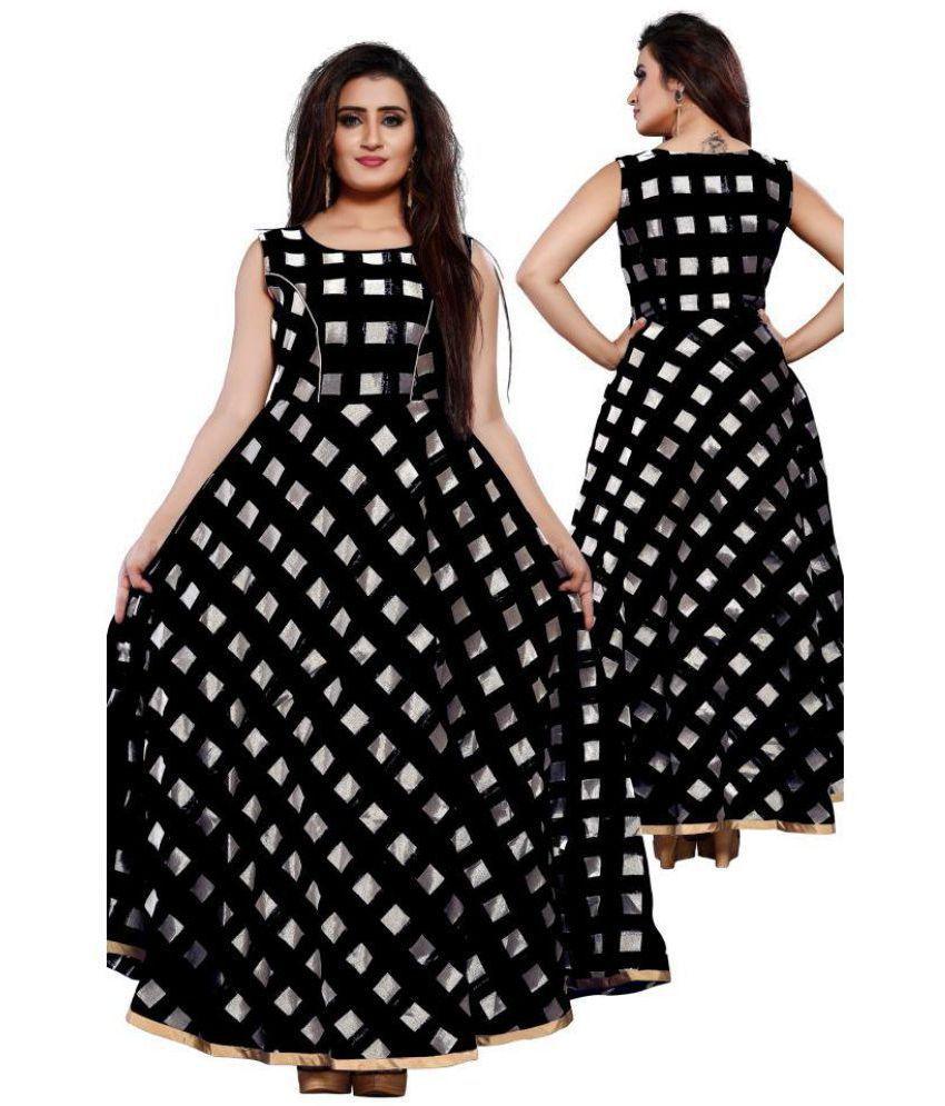 b976056f25e0 Lee Fashion Chiffon Black Fit And Flare Dress - Buy Lee Fashion Chiffon  Black Fit And Flare Dress Online at Best Prices in India on Snapdeal