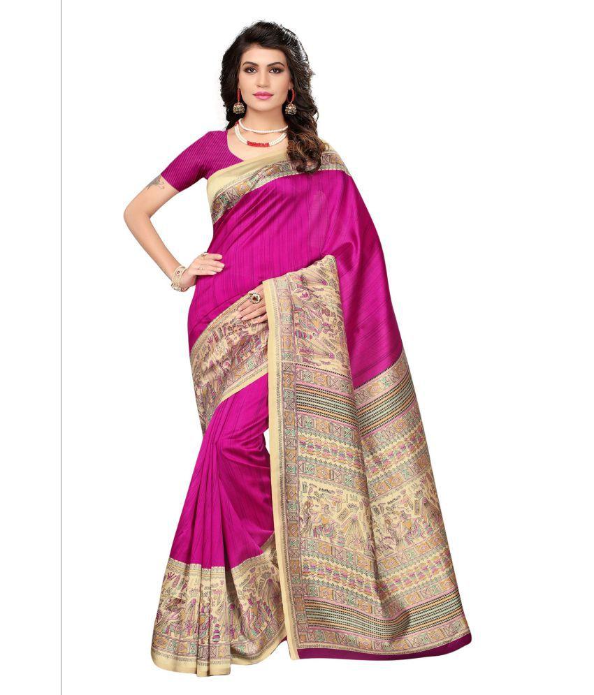 Umang NX Pink Silk Saree