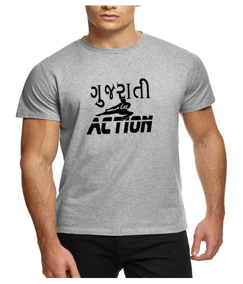 The Heyuze Haat Grey Half Sleeve T-Shirt