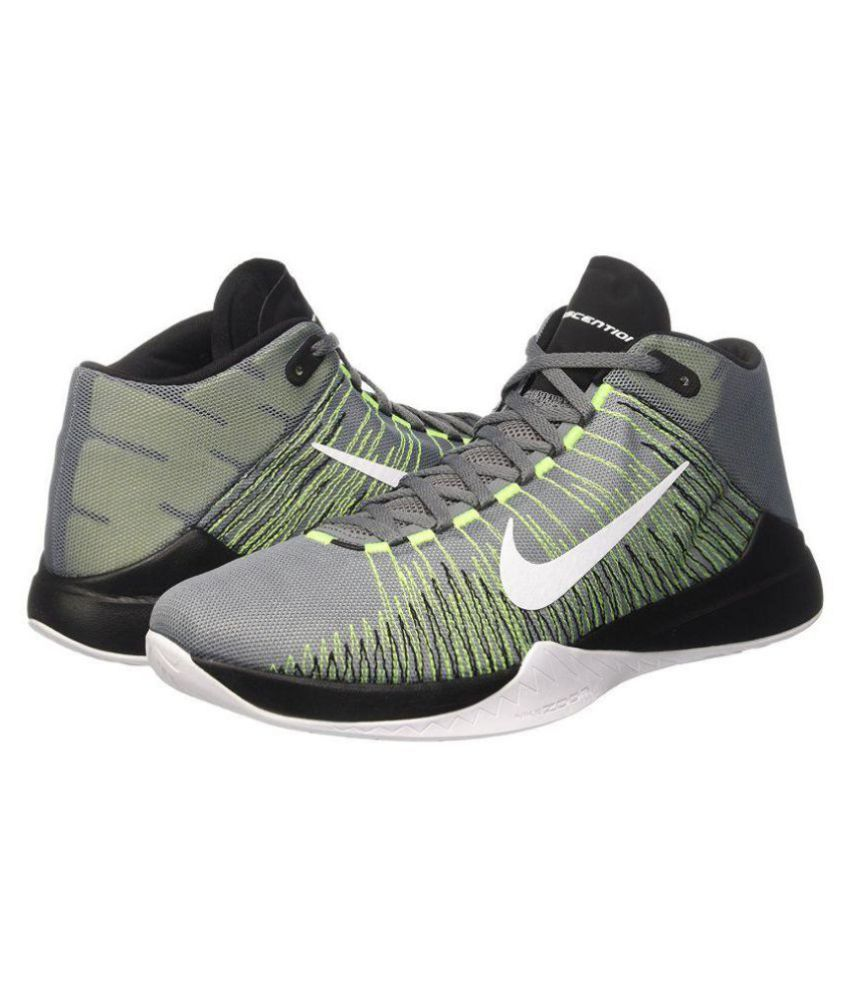 2764bc6f14d8 Nike Zoom Ascention Gray Basketball Shoes - Buy Nike Zoom Ascention Gray  Basketball Shoes Online at Best Prices in India on Snapdeal