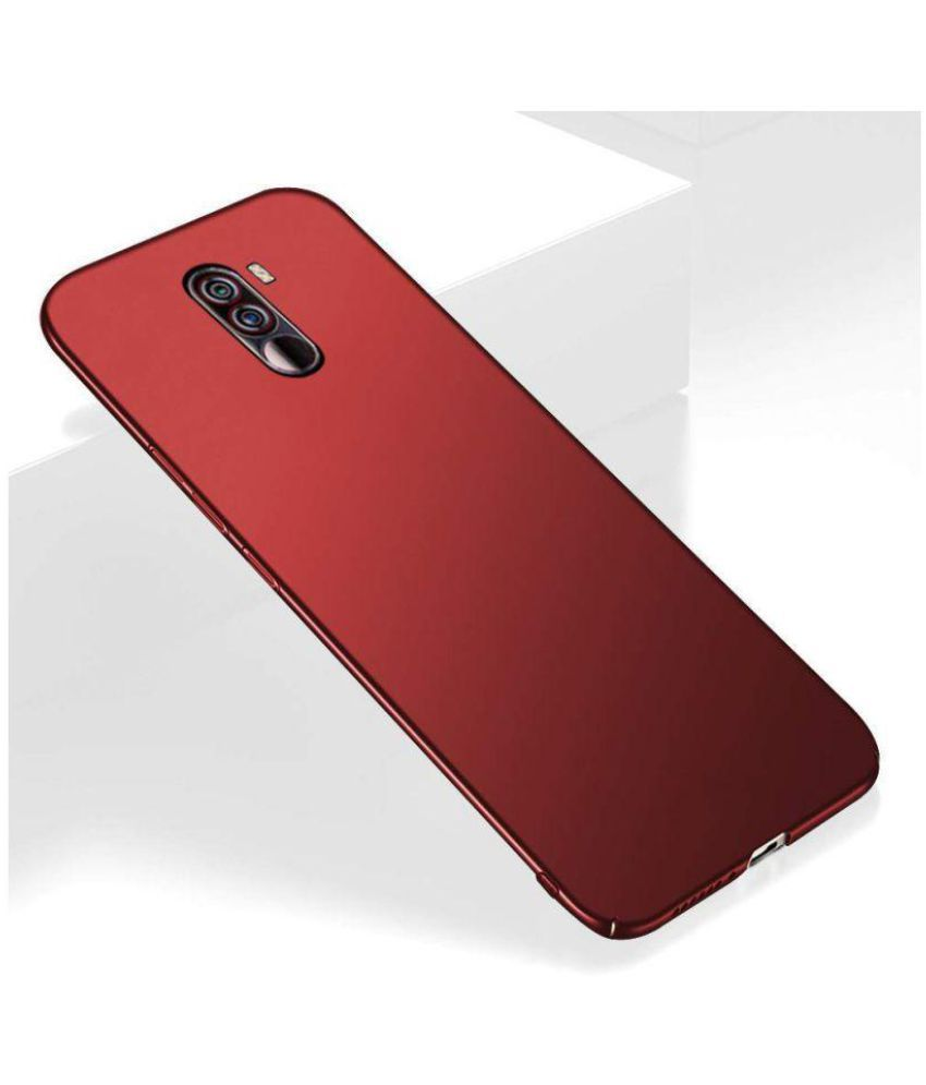 info for bc9f5 eea5f Xiaomi Redmi Poco F1 Plain Cases QuikDeal - Red 360 Degree 4Cut Protection  For Your POCO F1 Phone
