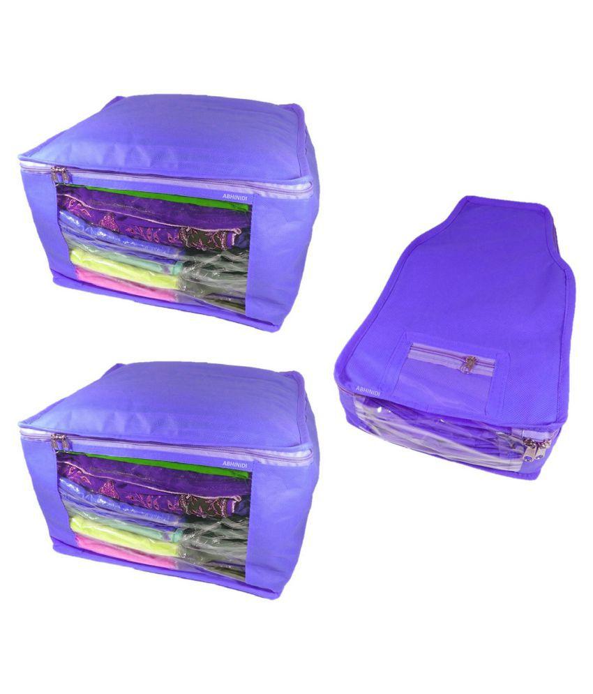 shivansh traders Purple Saree Covers - 3 Pcs