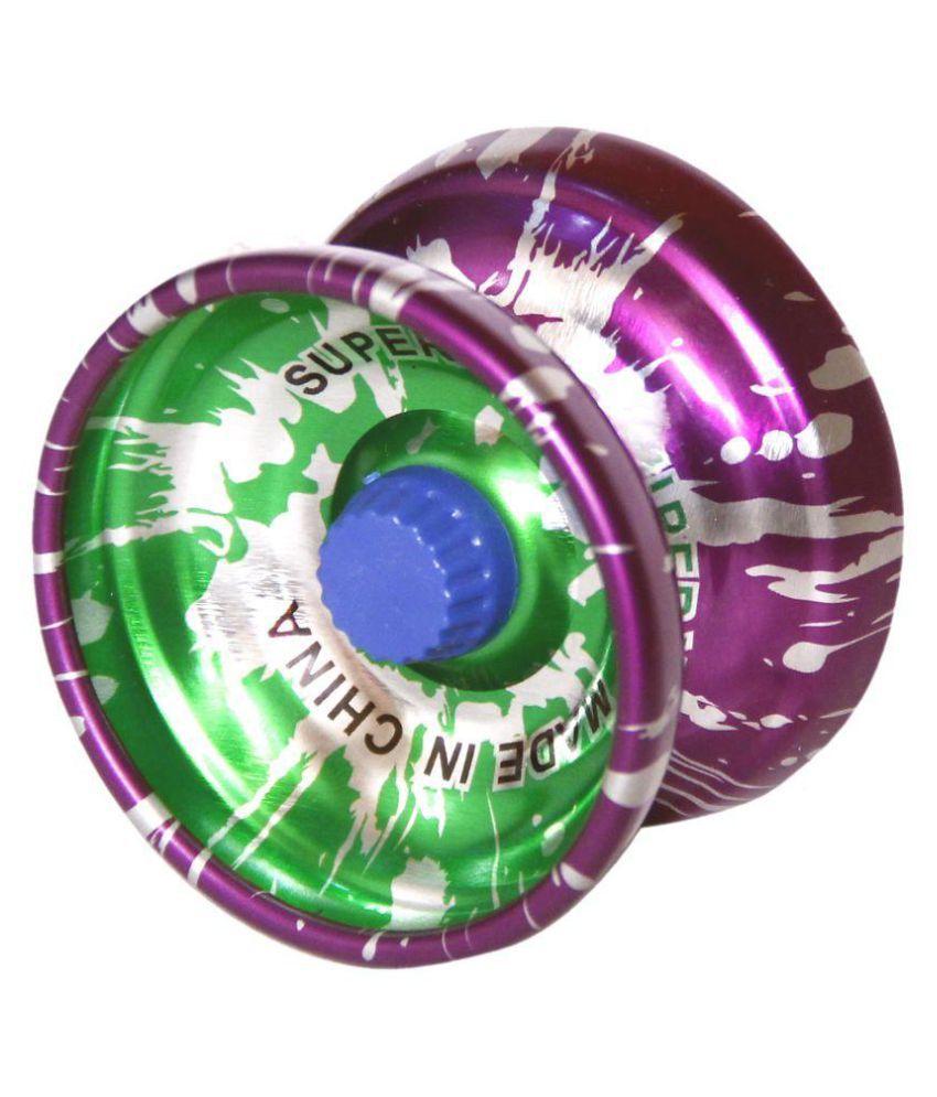 Homeshopeez Metal YoYo - Prpl-In-Grn Toy Yoyo - Assorted Colour