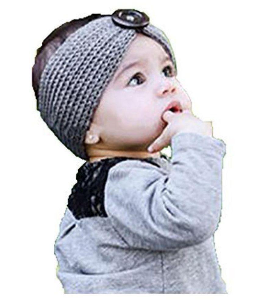 d0435e62770c Ziory Grey Baby Girl Baby Boy Unisex Knit Crochet Turban Headband ...