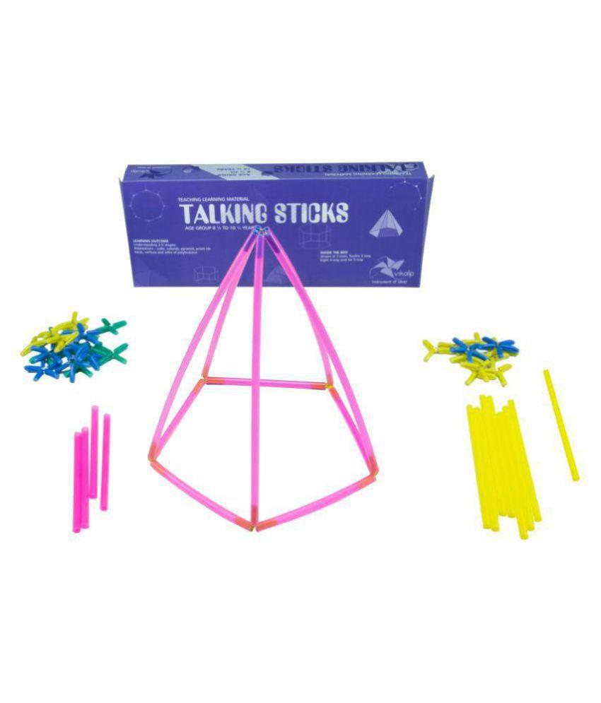 Vikalp India - Talking Sticks : Learn to Make 3D Geometric Shapes using  Straws |Educational Toys/Learning Kits/Educational Kits/Math Kit