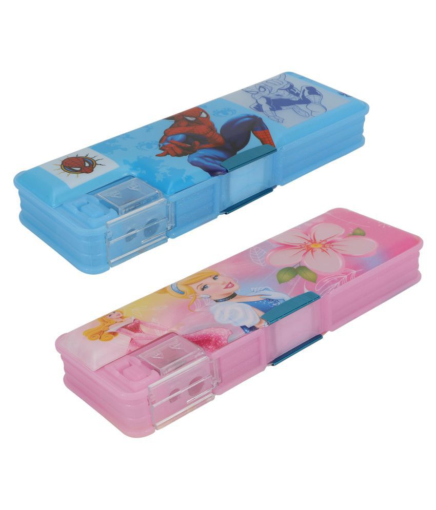 Aarvi Spiderman And Princess Character Pencil Box Birthday Return Gift For Kids Pack Of 2 Pieces Buy Online At Best Price In India