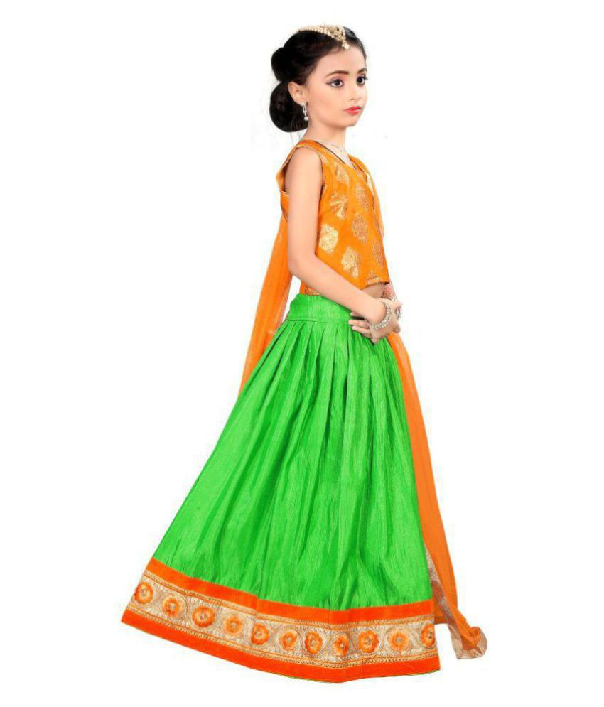 b71cb99af Arrow Fashion Girl Cotton Silk Lehenga Choli - Buy Arrow Fashion ...