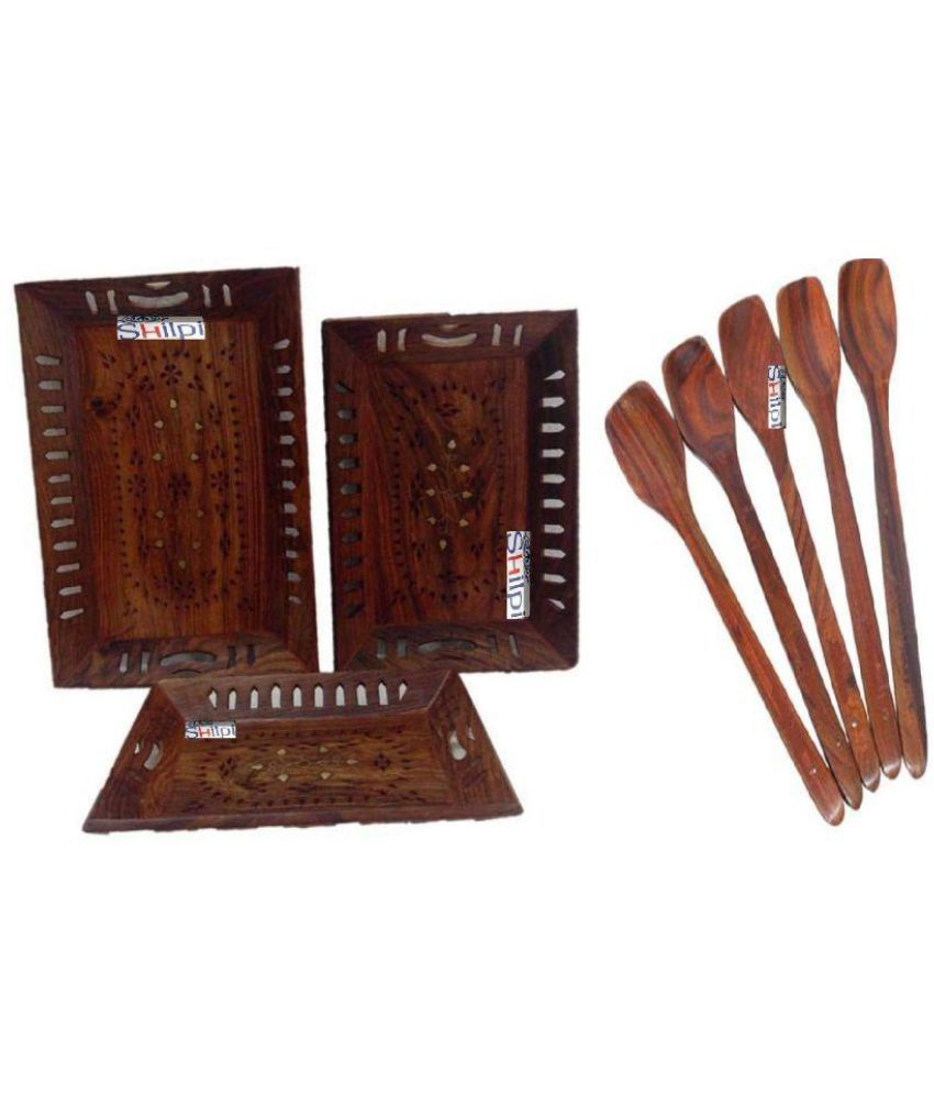 New Shilpi Handicrafts Others Dinner Set of 8 Pieces