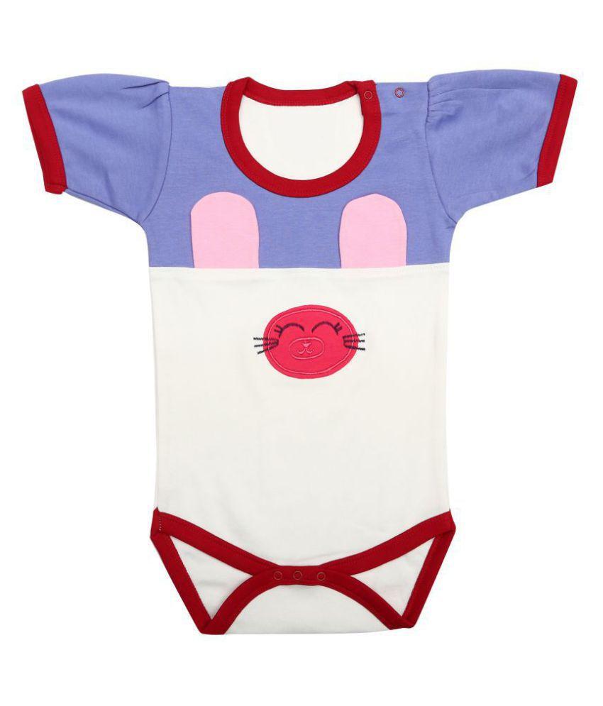 Kaboos Multicoloured Bodysuit for Baby Girls