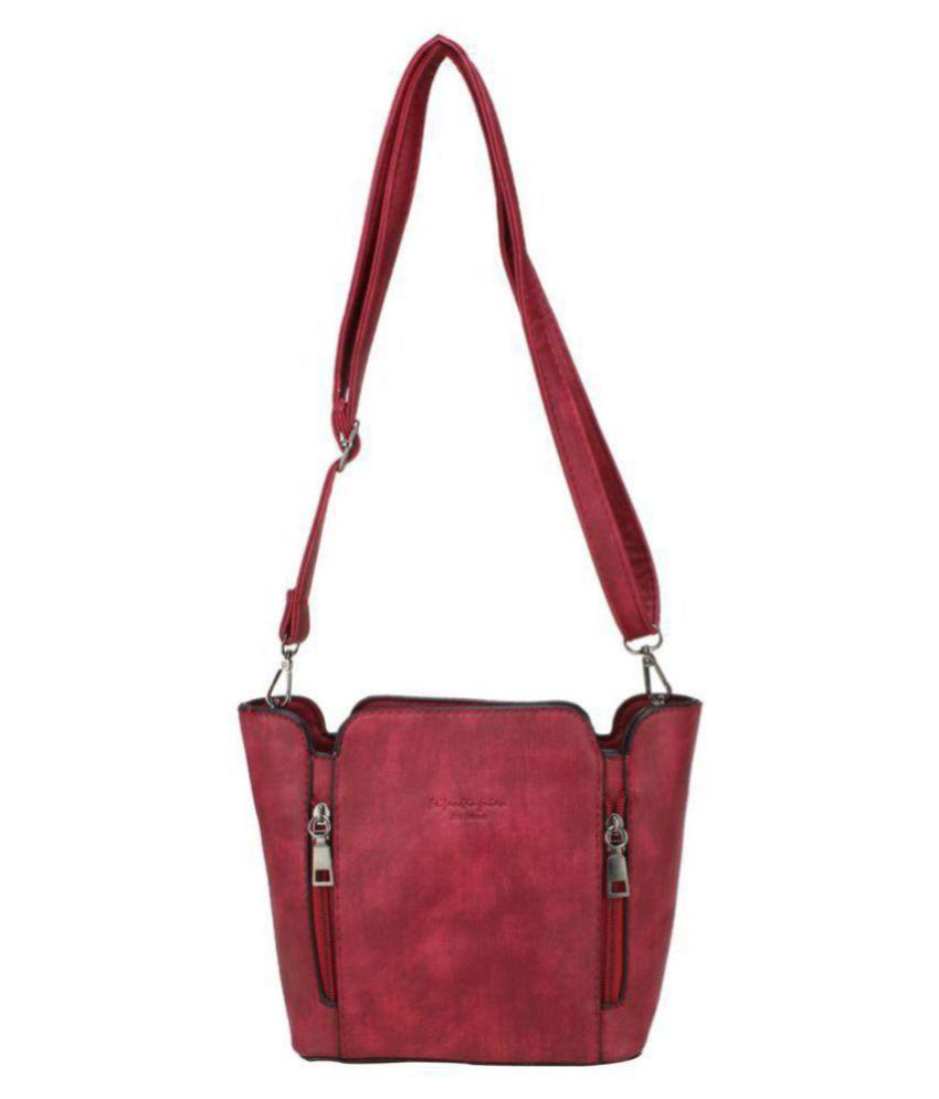 aims fusion Maroon Faux Leather Handheld