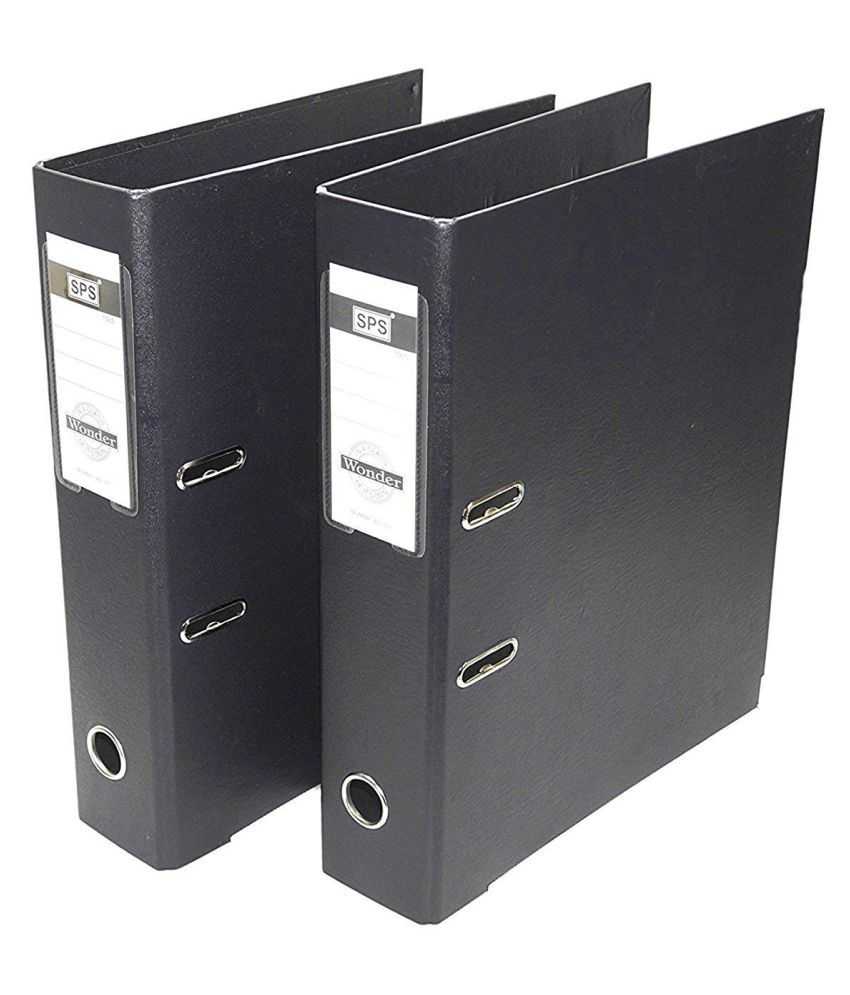2 Pack Box File, Polymer Elite Executive/Corporate Series FC Lever Arch file – Black