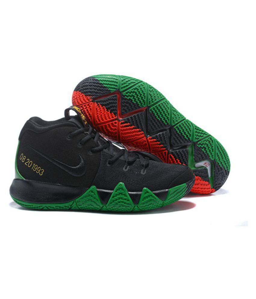 1f9b4ad3f3a3 Nike Kyrie 4 Green Red And Black Basketball Shoes - Buy Nike Kyrie 4 Green  Red And Black Basketball Shoes Online at Best Prices in India on Snapdeal