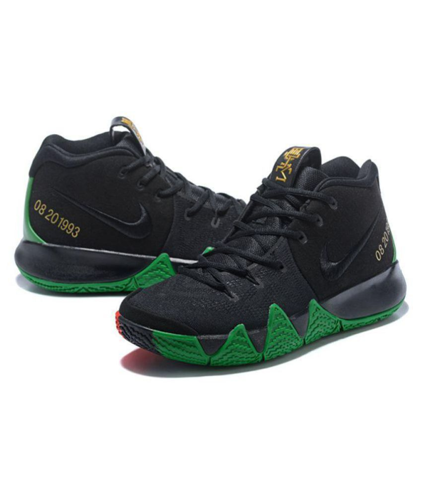 uk availability 06ae5 ff2b9 Nike Kyrie 4 Green Red And Black Basketball Shoes