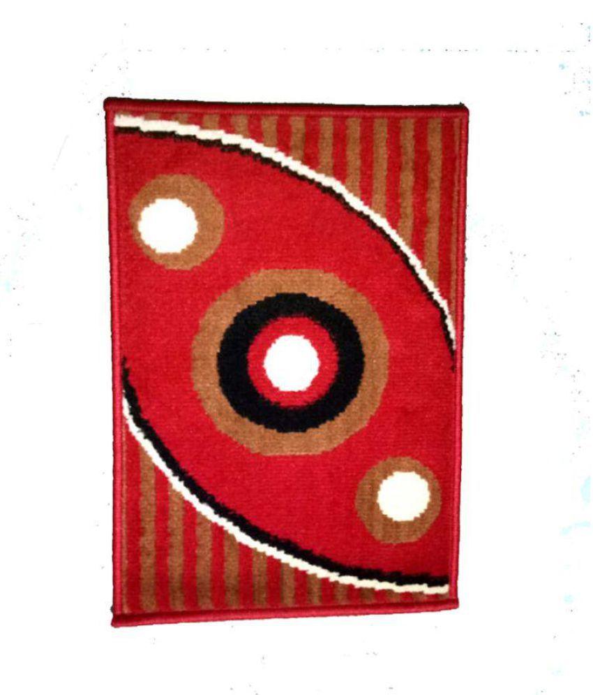 R R TRADING CO Red Single Anti-skid Floor Mat