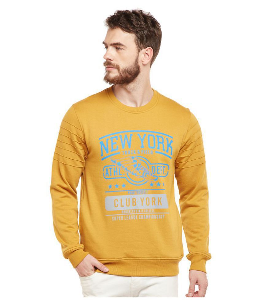 Club York Yellow Round Sweatshirt