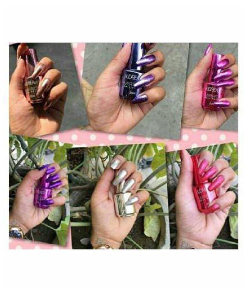 Huda Beauty Nail Polish Mirror Effect Random Color Mirror Crme 15 ml Pack of 6