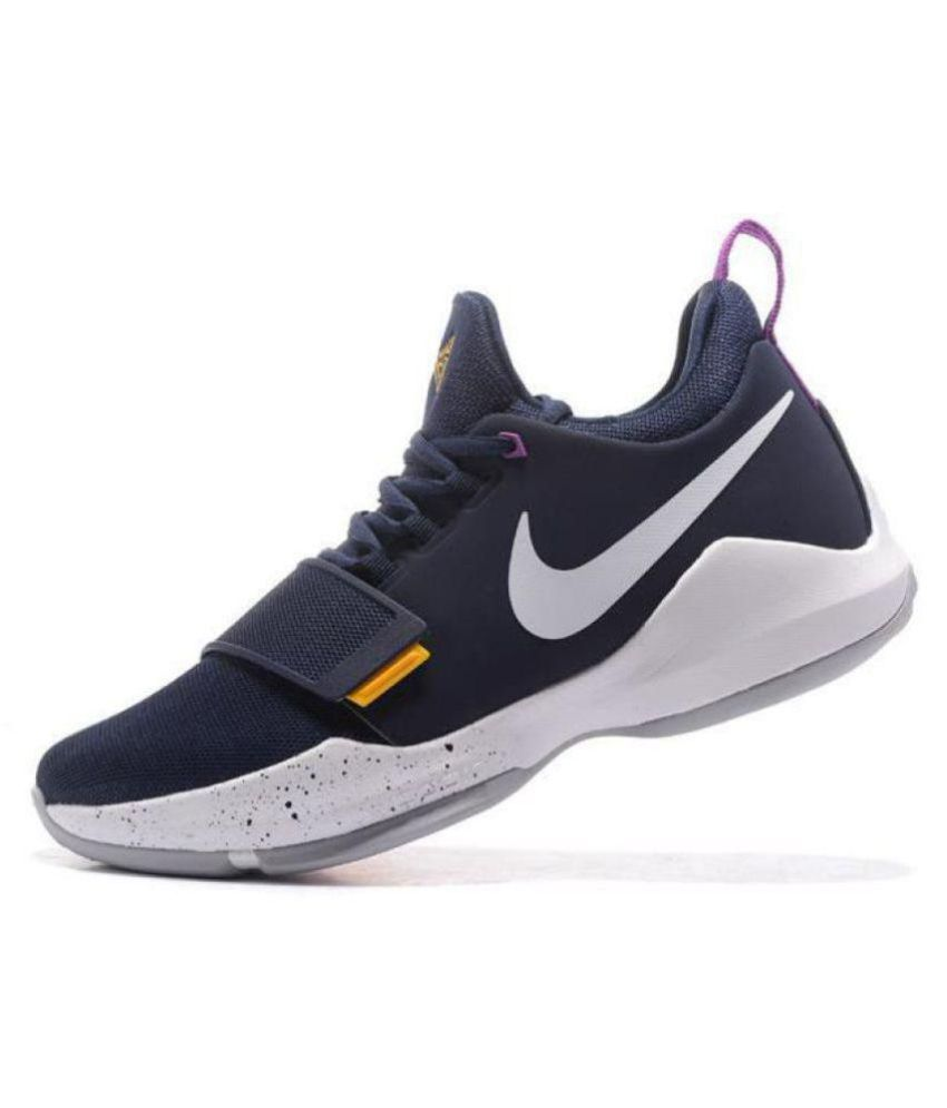 a14a0c0253a Nike PG 1 Paul George Navy Basketball Shoes - Buy Nike PG 1 Paul George  Navy Basketball Shoes Online at Best Prices in India on Snapdeal