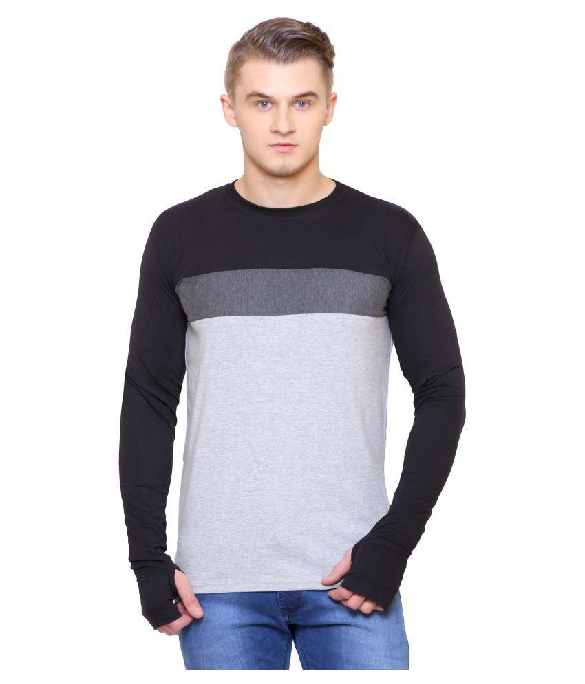 SCATCHITE Grey Full Sleeve T-Shirt
