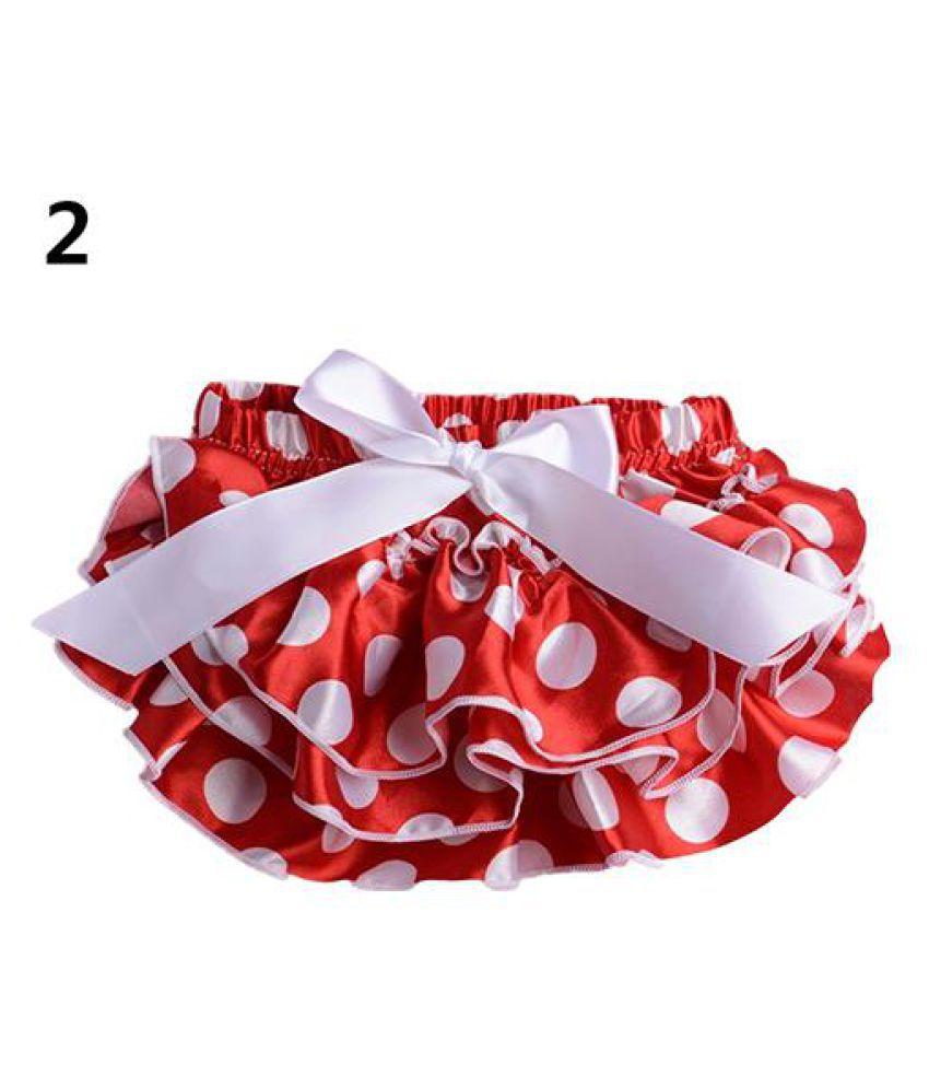 caf912a5b222 Baby Girls Flower Dots Bowknot Pettiskirt Ruffle Panties Briefs ...
