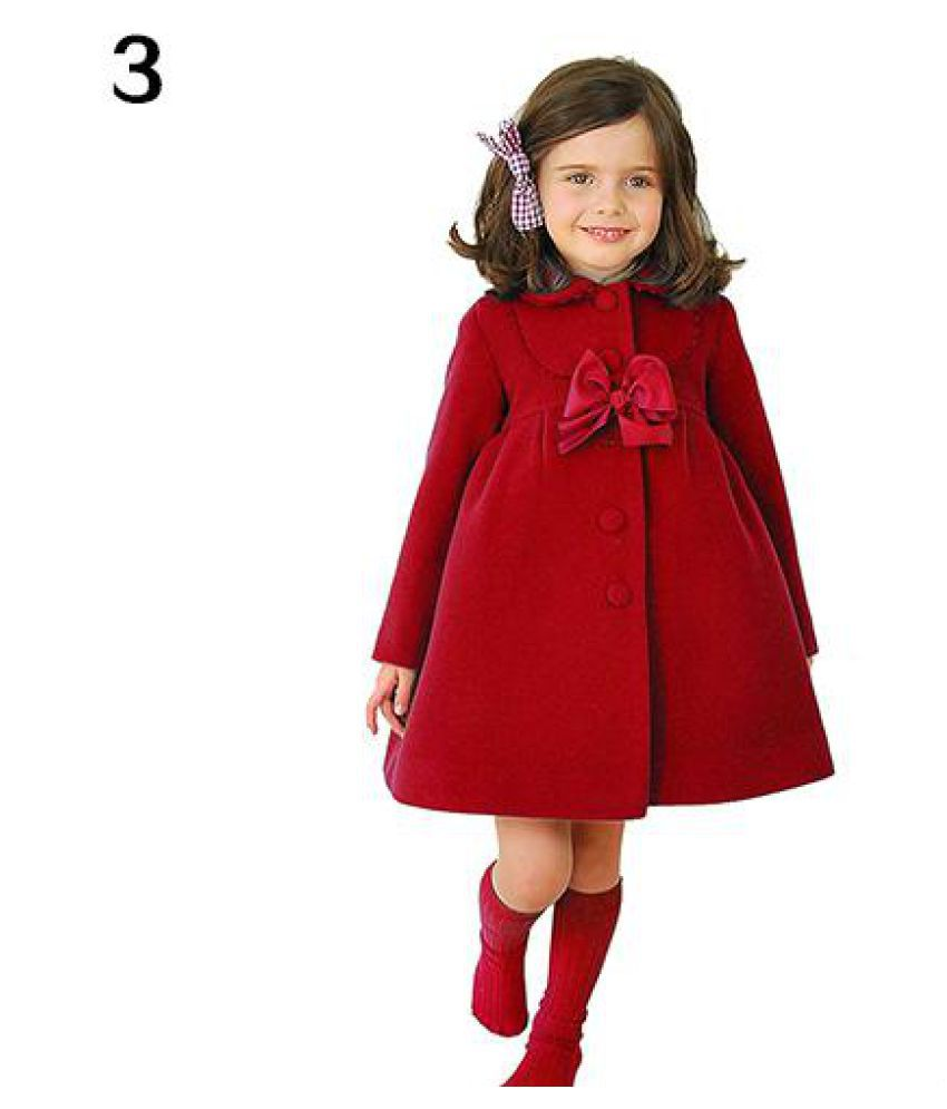 Fashion Kids Girls Faux Fleece Velvet Wind Coat Jacket Winter Outerwear Clothes