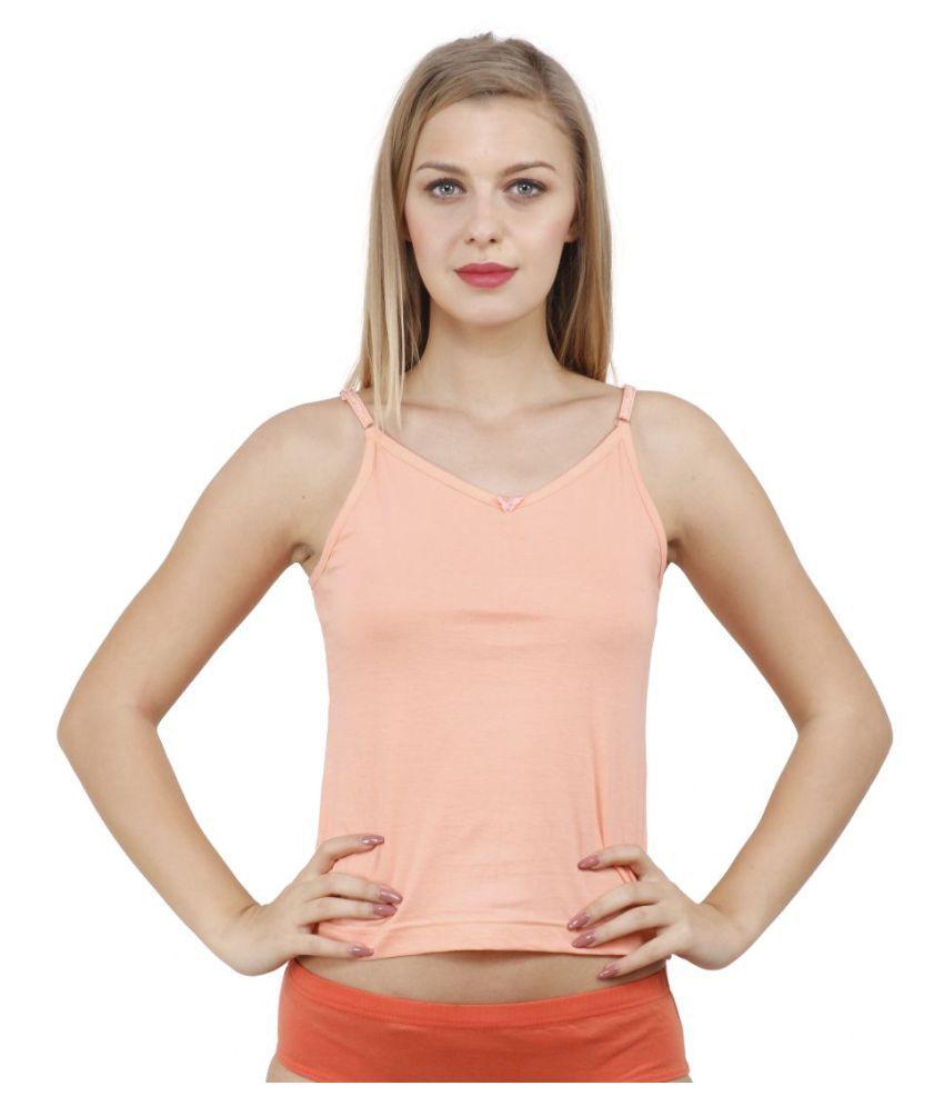 c915c2cb678d59 Buy Vica Pota Cotton Camisoles - Orange Online at Best Prices in India -  Snapdeal