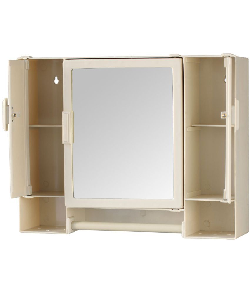 buy zahab pulse ivory three door plastic bathroom cabinet online at rh snapdeal com