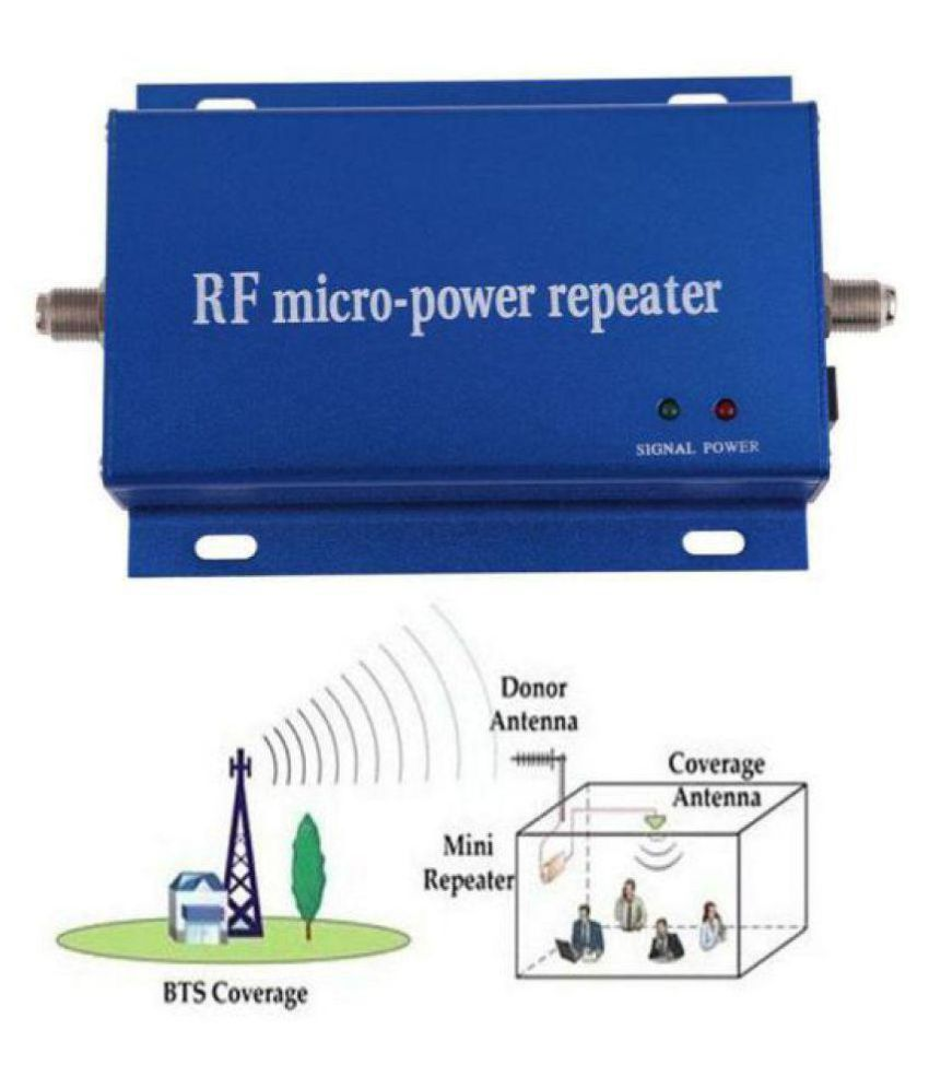 GSM 900 2G  BOOSTER REPEATER (ONLY)  FOR  BSNL , VODA , etc (CABLE & ANTENNA NOT INCLUDED)