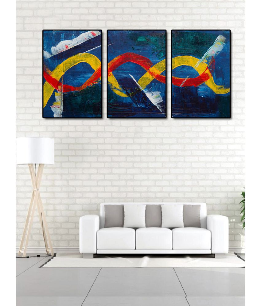 999Store    blue tree  Acrylic Painting With Frame