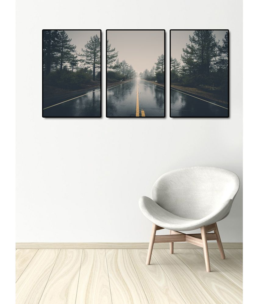 999Store    forest road  Acrylic Painting With Frame