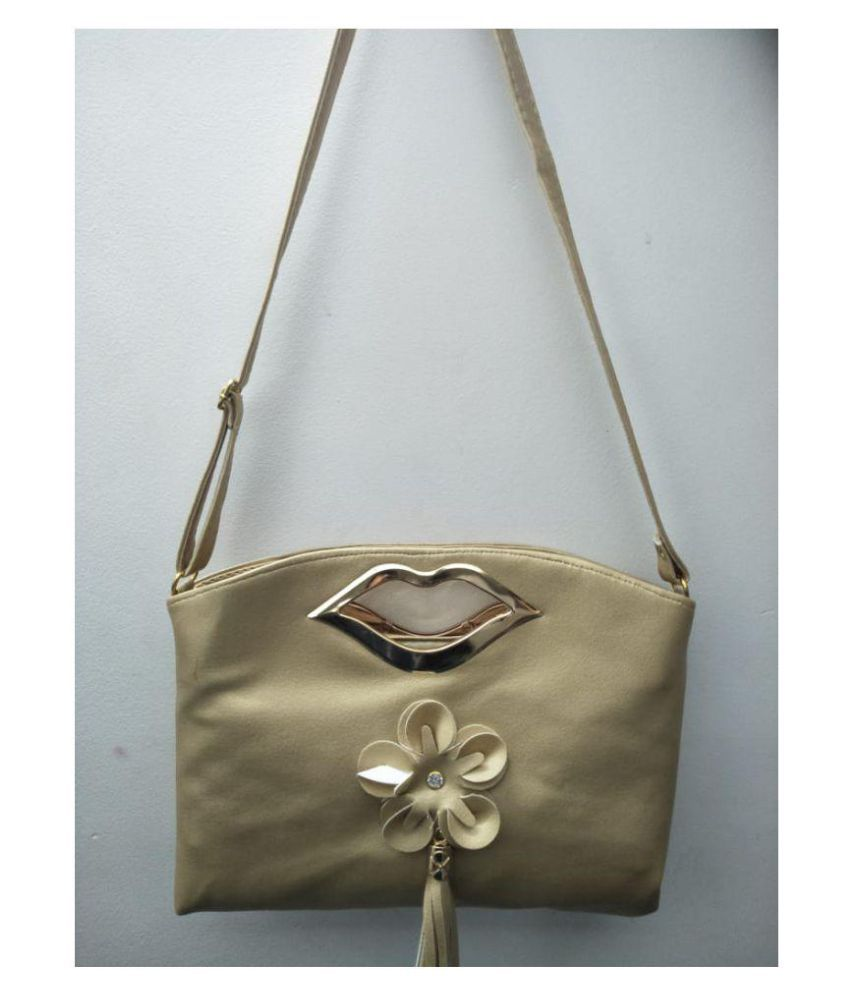 Shiv Shakti Gold Faux Leather Sling Bag