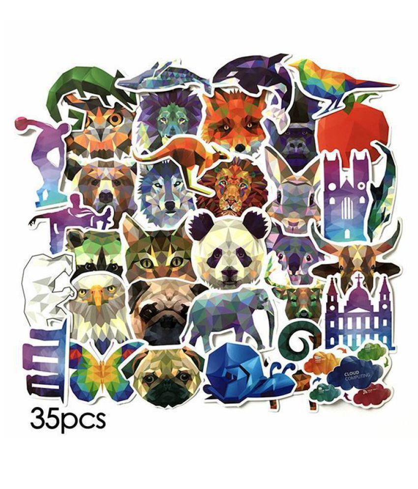 New PVC Geometric Animals Film Body Stickers Personalized Car Body Paste
