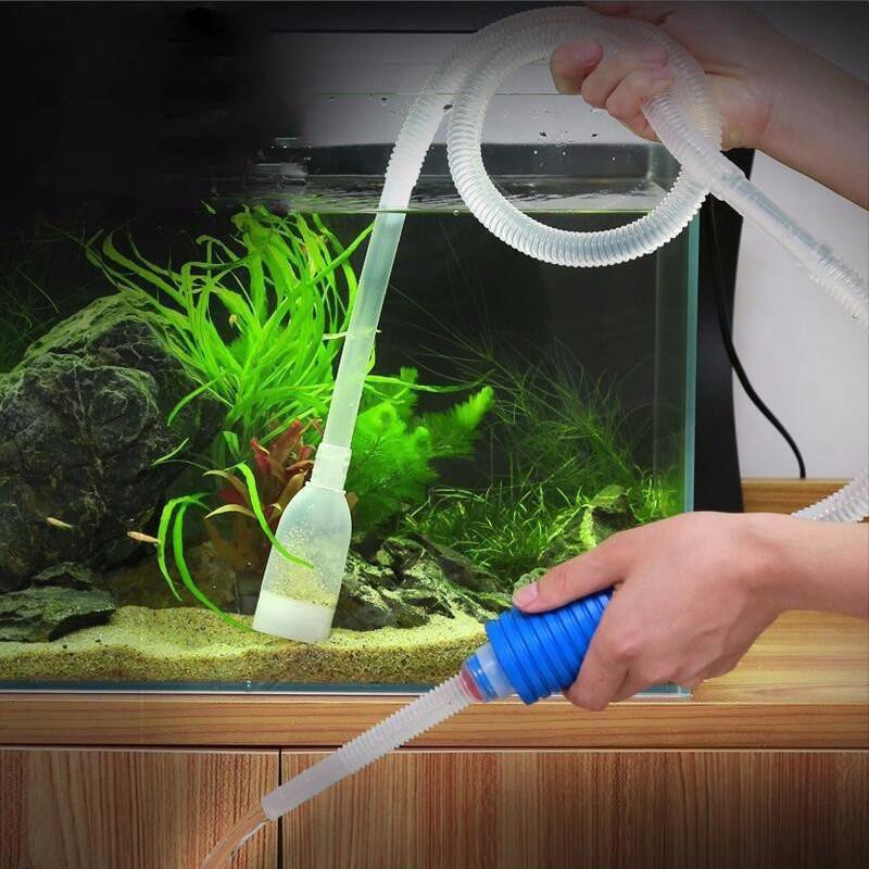 Aquarium Tool Water Filter Fish Tank Gravel Vacuum 1.8M Cleaner Siphon Pump