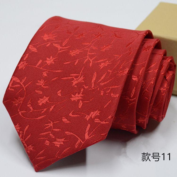 Levaso Red Stripes Polyester Necktie