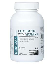 NutriLeon Calcium Vitamin D3 Supplement Natural Minerals 60 no.s Minerals Tablets