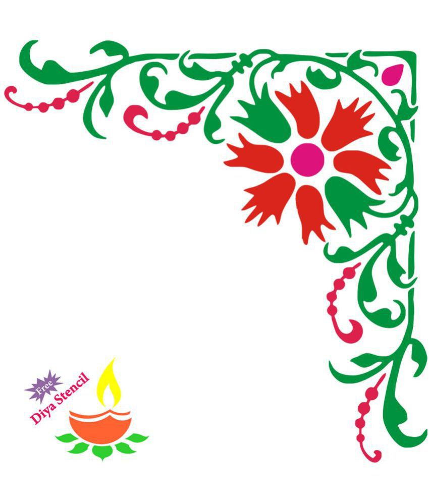 Incredible Gifts Wood Diwali Rangoli - Pack of 2