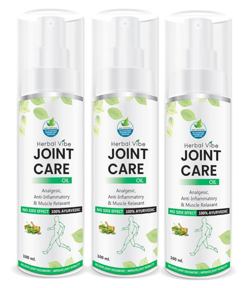 Herbal Vibe Joint Care 100% Ayurvedic Oil 100 ml Pack of 3