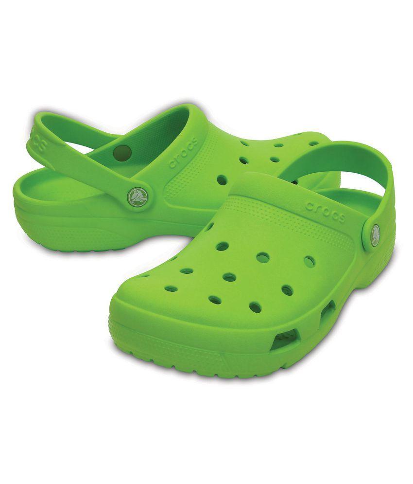 2d21b03c9985e Crocs Green Croslite Floater Sandals - Buy Crocs Green Croslite ...