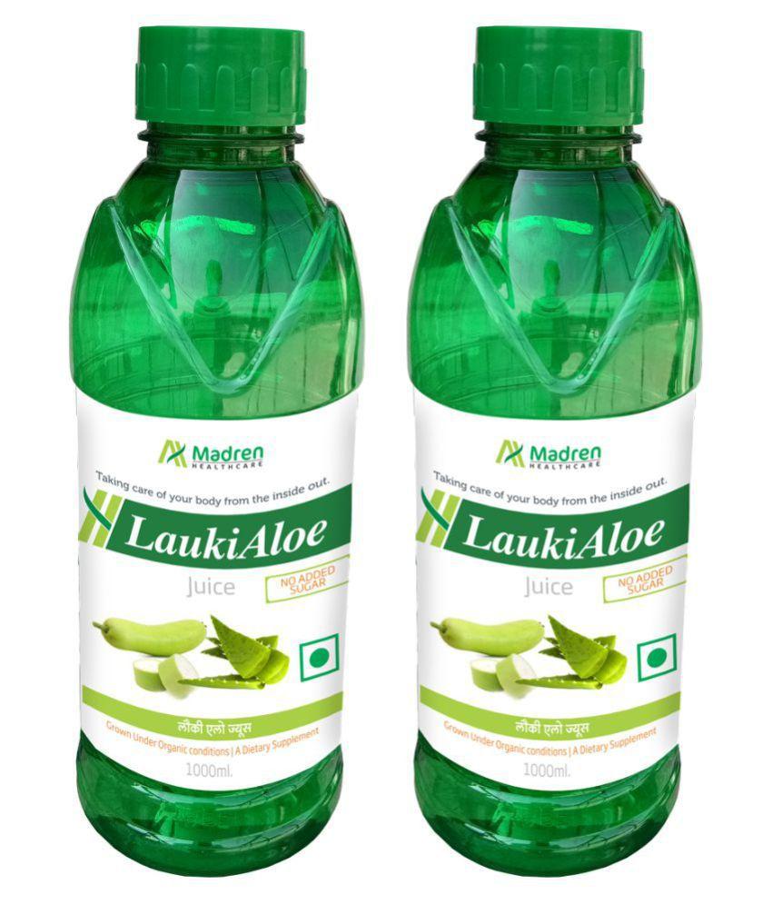 Madren Healthcare Lauki Aloe 1 Ltr PACK OF 2 Health Drink 2000 ml