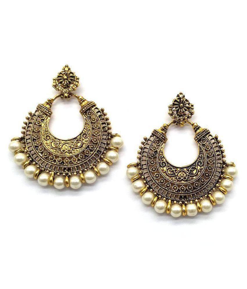 836cf8a7f Afghani Tribal Oxidised Dangler Stylish Fancy Party Wear Chandbali Earrings  for Girls and Women - Buy Afghani Tribal Oxidised Dangler Stylish Fancy  Party ...