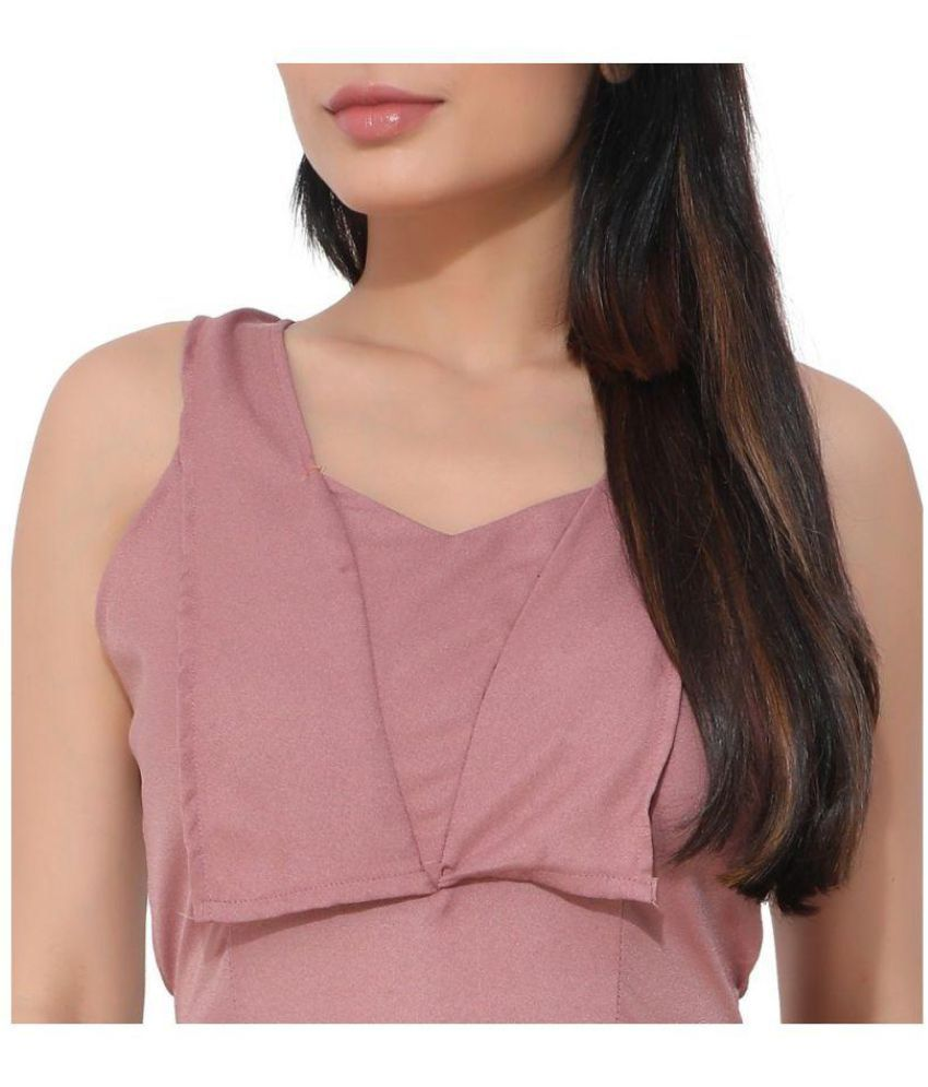80d1c976ee8 KLOTHESROOF Pink Polyester Jumpsuit - Buy KLOTHESROOF Pink Polyester ...