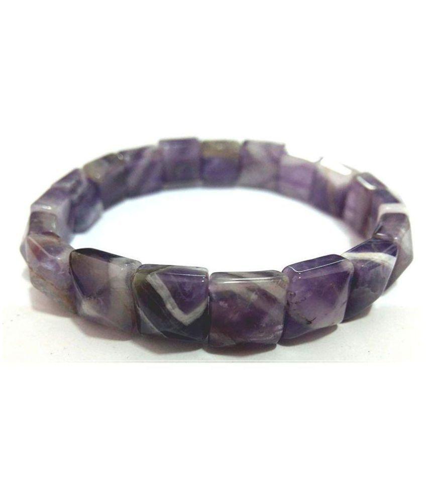 Amethyst pyramid shaped power bracelet, amethyst stone bracelet , amethyst,