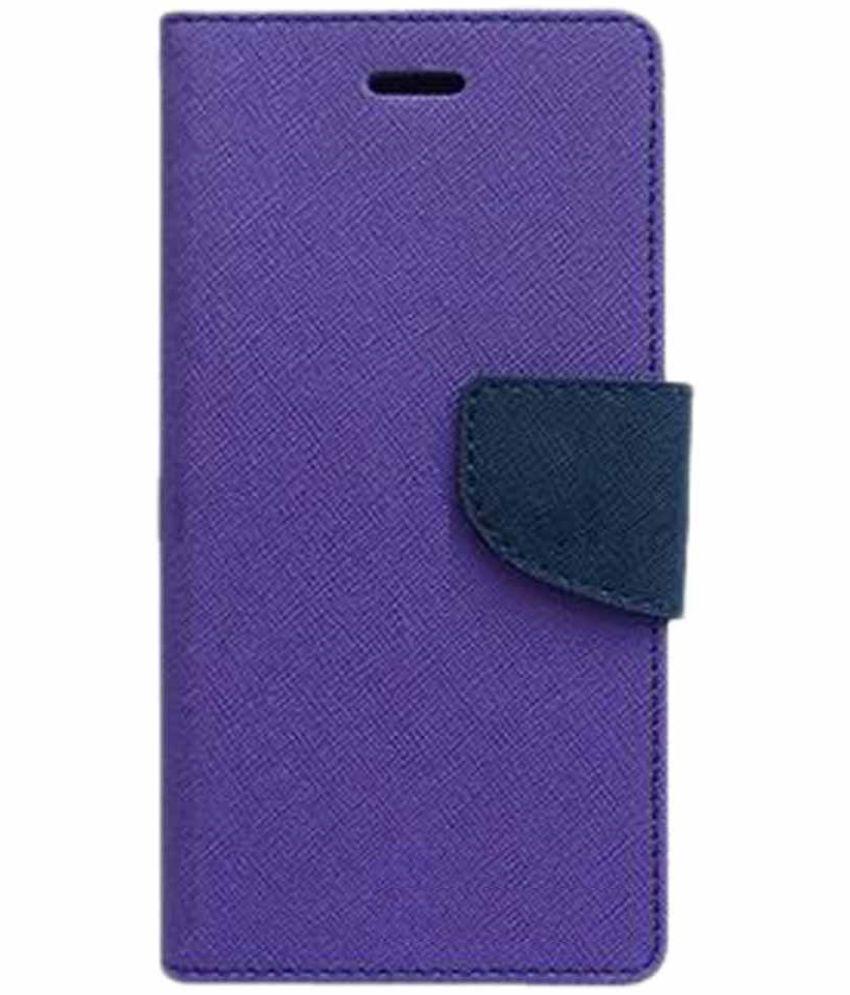 Oppo F1 Flip Cover by Doyen Creations - Purple Premium Mercury