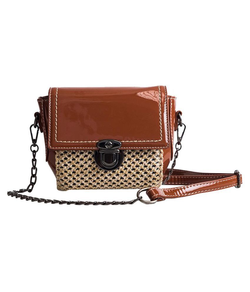 Generic brown Faux Leather Shoulder Bag