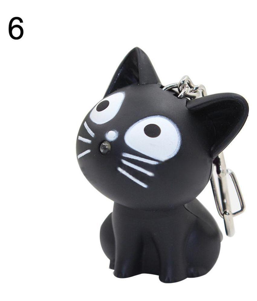 Cute Cartoon Animal Keychain Pendant Handbag Light Music Gift Portable Unisex